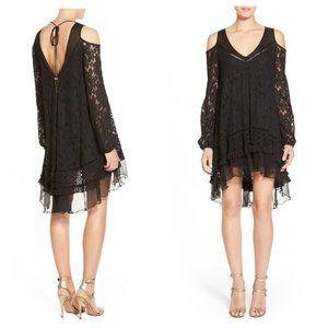 PLENTY Tracy Reese Black Lace Cold Shoulder Dress
